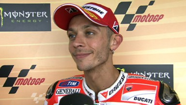 "Rossi delighted with first Ducati podium, Hayden ""best weekend"" yet"