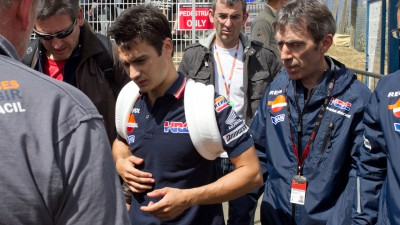 Barcelona race in doubt for Pedrosa after broken collarbone