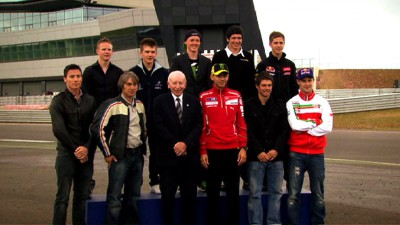 Rossi and Crutchlow present at launch of Silverstone Wing