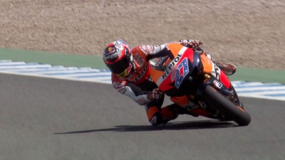 Casey Stoner tests the 2012 Honda prototype in Jerez