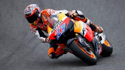 Stoner di nuovo in pista con la Honda 2012