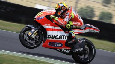 Rossi teste de nouveau la Ducati GP12 au Mugello