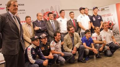 Los pilotos de casa se reunieron en la presentación del GP
