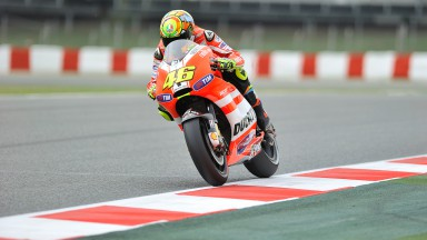 Seventh and eighth for Valentino Rossi and Nicky Hayden in Catalunya qualifying