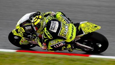 Iannone leads wet warm up in Barcelona