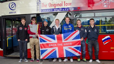 British riders promote the GP with a London sightseeing tour