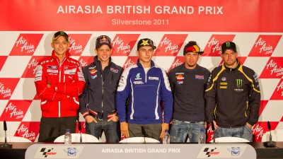 La conferenza stampa dell'AirAsia British Grand Prix