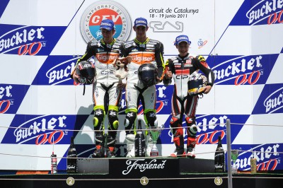 CEV・Moto2:小山知良が3位表彰台を獲得