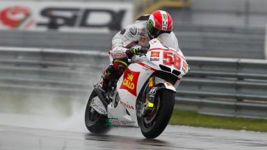 Simoncelli sharpest in wet Assen FP1