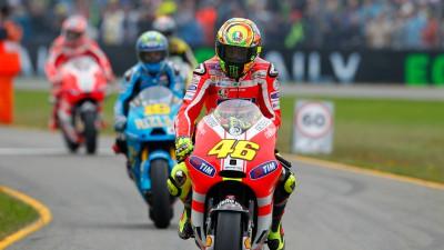 Rossi on the GP11.1 Ducati