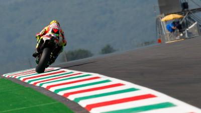 Al Mugello pochi giri per Valentino Rossi