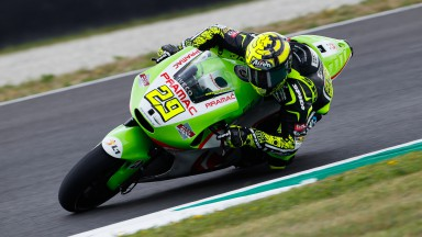 Iannone makes first outing on a MotoGP bike