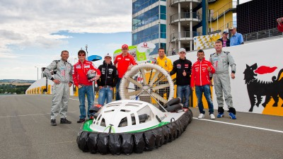 Riders put through their paces on hovercrafts
