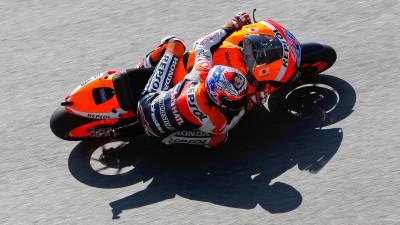 Stoner suma y sigue tras el warm up de MotoGP