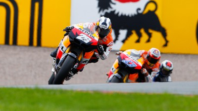 Pedrosa wins German GP clash