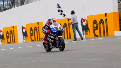 Lorenzo and Spies save it for the last lap in Sachsenring Thriller