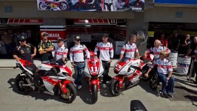 Yamaha legends turn out at Laguna