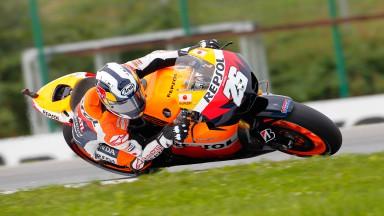 Pedrosa encabeza el ataque inicial de Honda en Brno