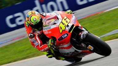 Des progrès encourageants pour Rossi et Hayden