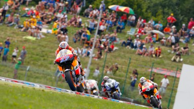 Superb win for Stoner with Dovizioso in second for an all Honda podium