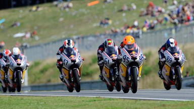 Red Bull MotoGP Rookies Cup: Roberts charges from last to first, Techer takes race 2