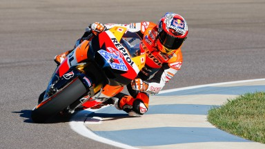 Casey Stoner ahead of the pack Saturday morning