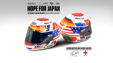 Bautista's Laguna Seca 'Hope for Japan' helmet on auction now