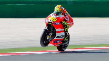 Free practice challenging for Ducati Team