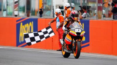 決勝レース:M.マルケスが2戦連続6勝目達成