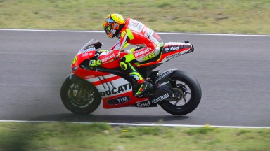Rossi rounds off his sixth day of testing on GP12 at Mugello
