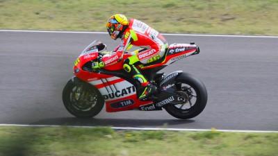 Rossi termina sexto dia de testes da GP12 em Mugello