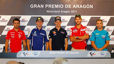 La rueda de prensa del Gran Premio de Aragón