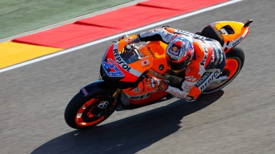 Stoner shatters lap record to take pole, Pedrosa second, Dovizioso fifth