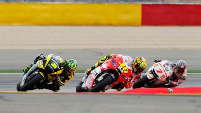 Forderndes Wochenende für das Ducati Team in Aragón