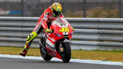 Rossi improves in Motegi qualifying, Hayden not far off