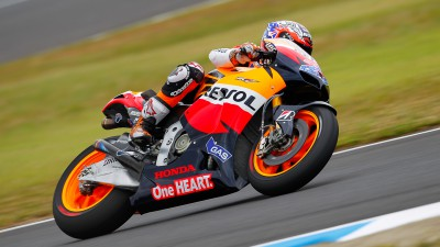 Stoner leads again in Motegi warm up