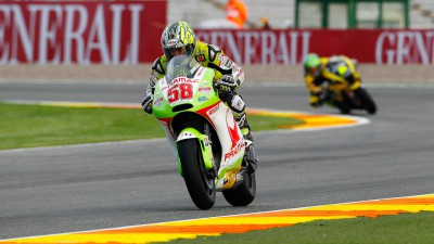 Capirossi pays tribute to Simoncelli and sets top-five time