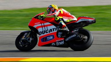 Ducati trabaja con una GP12 experimental en Valencia