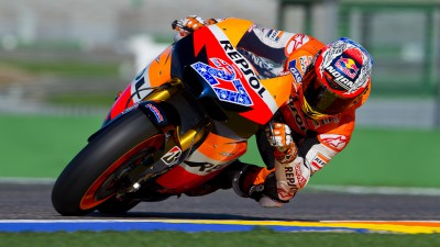 Repsol Honda Team dominate on 1st day of testing at Valencia