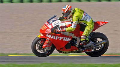 Día de estrenos en la primera jornada del test Moto2 en Valencia