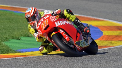 Terol y Aleix Espargaró se estrenaron con la Moto2 del Mapfre Aspar
