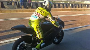 Las Kalex KTM se estrenan en el test Moto3 de Valencia