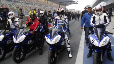 Lorenzo découvre la piste du Buddh International à New Delhi