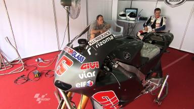 Bradl makes his debut aboard the Honda RC213V