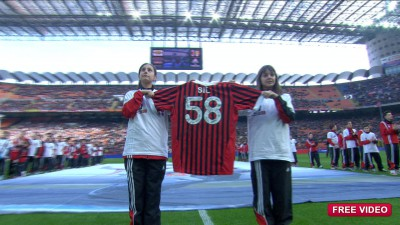 L'A.C. Milan in onore di Marco Simoncelli