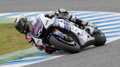 Lorenzo, satisfecho con el inicio del Test en Jerez
