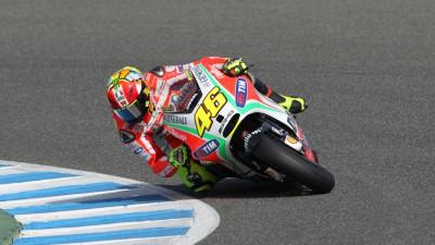 Rossi y Hayden medirán los progresos con la GP12 en Losail