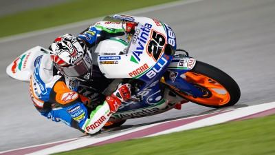 Viñales führt beim Warm-up der Moto3