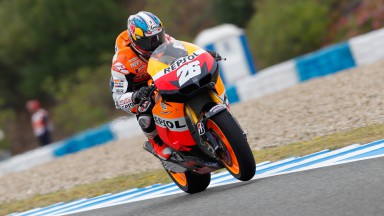 Pedrosa fastest under difficult weather conditions in Jerez Free Practice