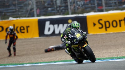 Crutchlow fourth in dramatic Jerez qualifying